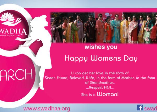 swadhaa wishes womens day